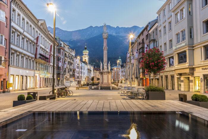 Saint Anne Column in Innsbruck, Austria photo via Depositphotos