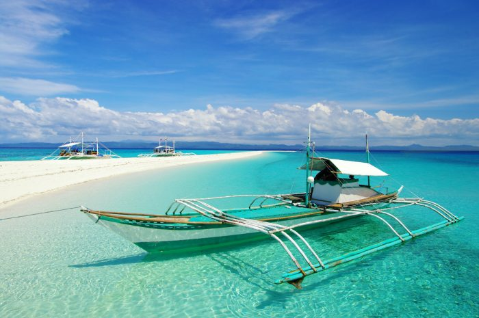 Sandbar in Cebu, Philippines photo via Depositphotos