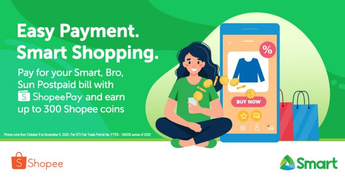 Smart teams up with Shopee for a simple and easy way  to pay your Postpaid Bill via ShopeePay