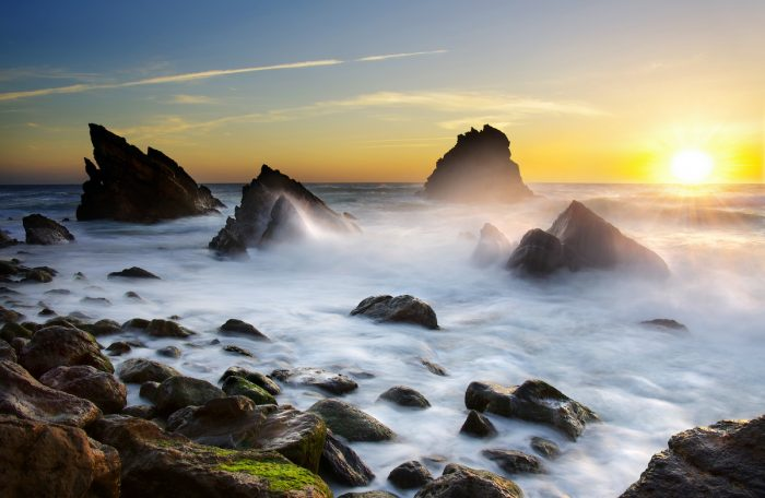 Sunrise at Praia da Adraga via Depositphotos