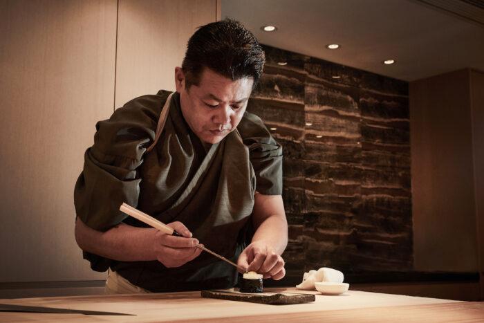 Sushi Hakucho Executive Chef Mr Harada Makoto