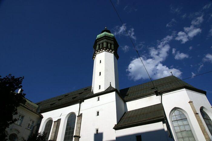 The Hofkirche (Court Church) by Bede735c via Wikipedia CC