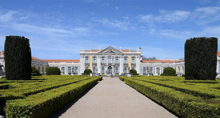 The Palace of Queluz by Alvesgaspar via Wikipedia CC