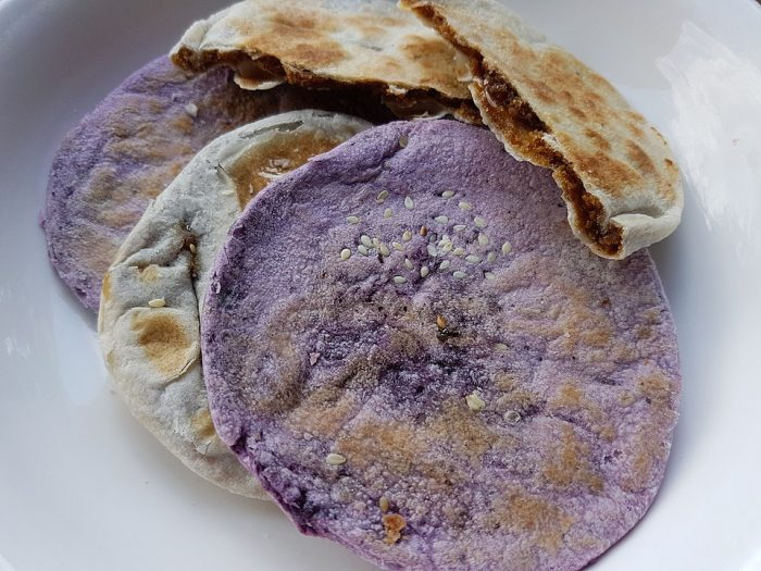 Ube and muscovado piaya by Obsidian Soul via Wikipedia CC