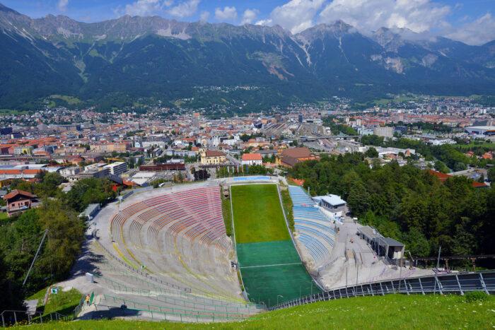 he Bergisel ski jump stadium photo via Depositphotos