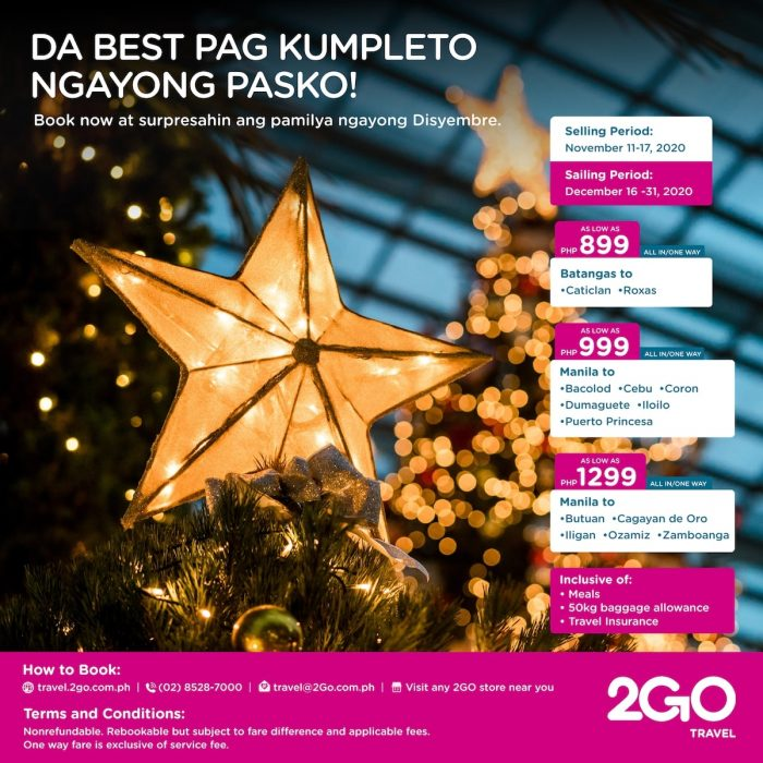 2GO Travel Ticket Sale