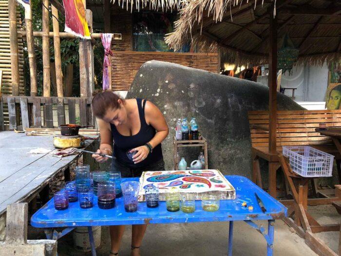 Batik Workshop photo via Lipe Art Garden FB Page
