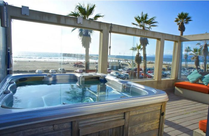 Beach-Front Airbnb with Hot Tub Overlooking Venice Pier