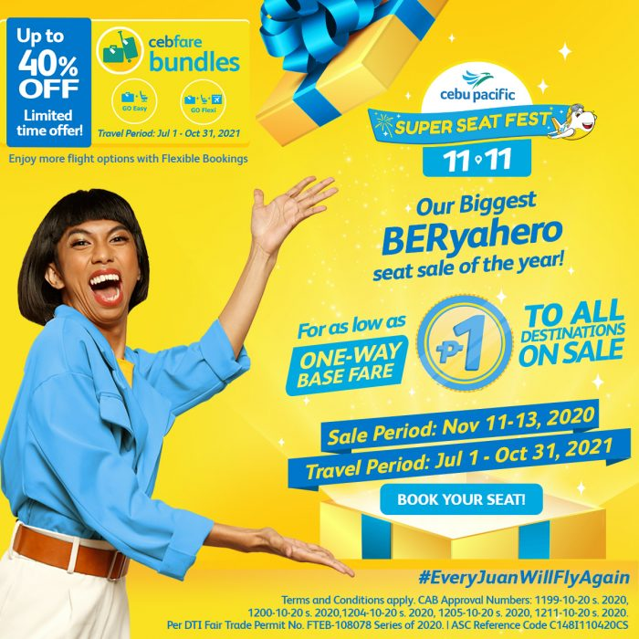 Cebu Pacific Piso Fare Seat Sale 2020