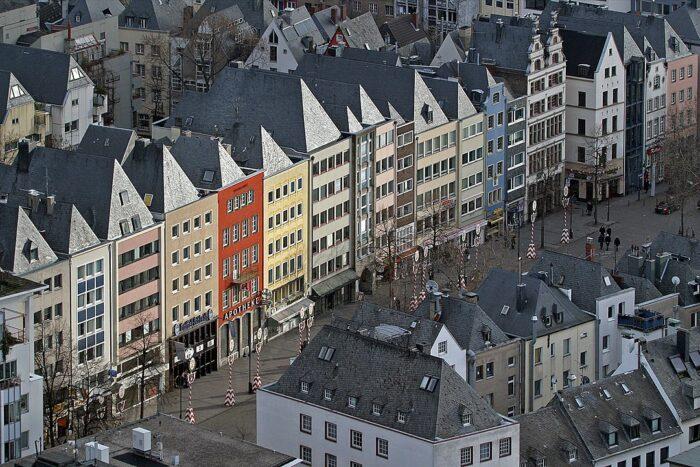 Cologne old town by Thomas Robbin via Wikipedia CC