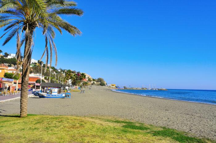 El Palo Beach in Malaga, Spanien Foto über Depositphotos