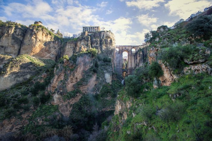 El Tajo Gorge in Ronda, Andalusia, Spain by Judith via Flickr CC