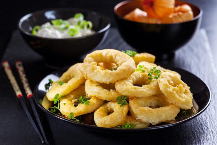 Fried Squid photo via Depositphotos