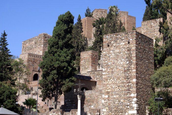 Gibralfaro Castle in Malaga Foto über Depositphotos