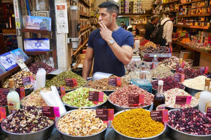 Jerusalem Israel. Mahane Yehuda Market photo via Depositphotos