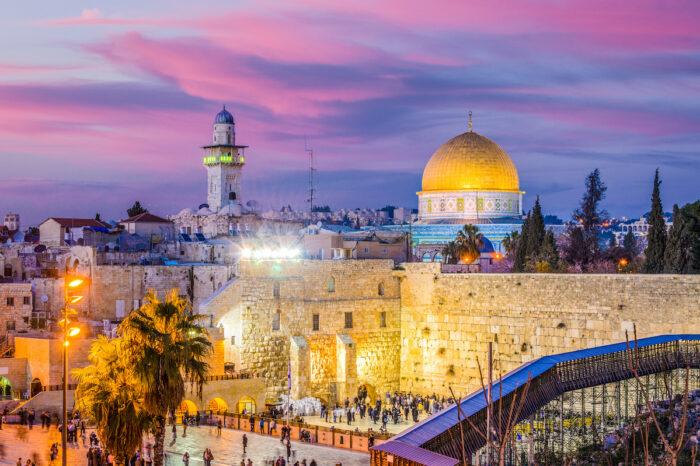Jerusalem Old City at Temple Mount photo via Depositphotos