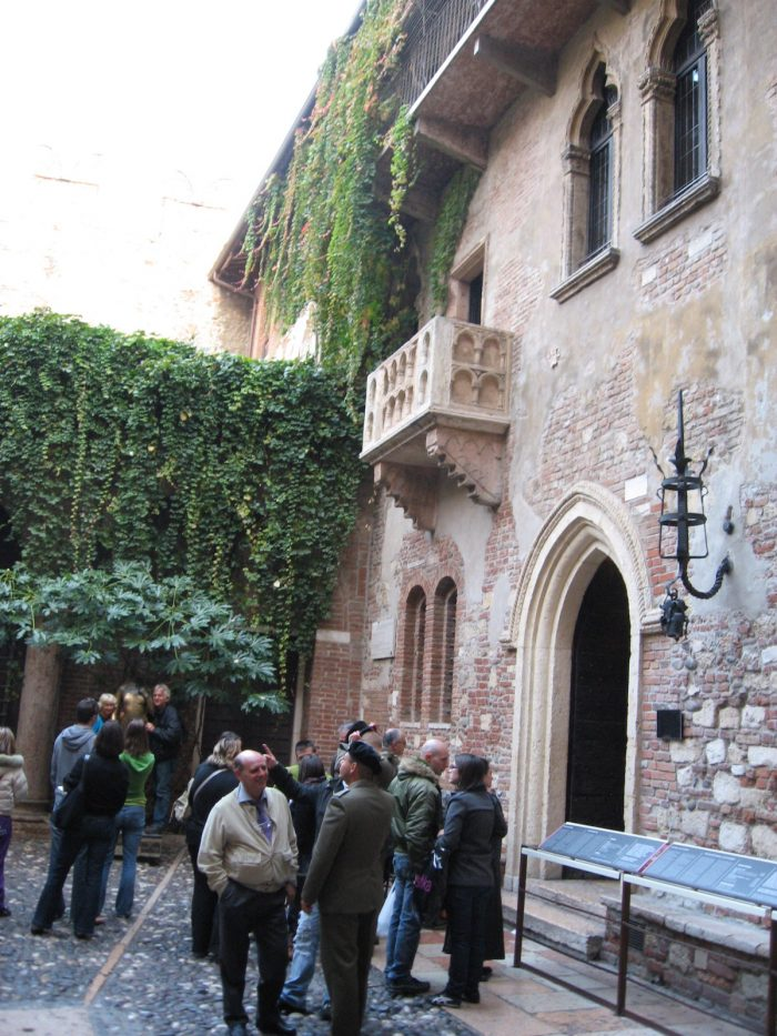 La casa de Julieta en Verona Italia