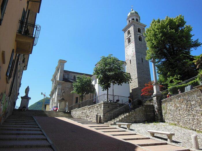 Lugano Cathedral by Chris J Wood via Wikipedia CC