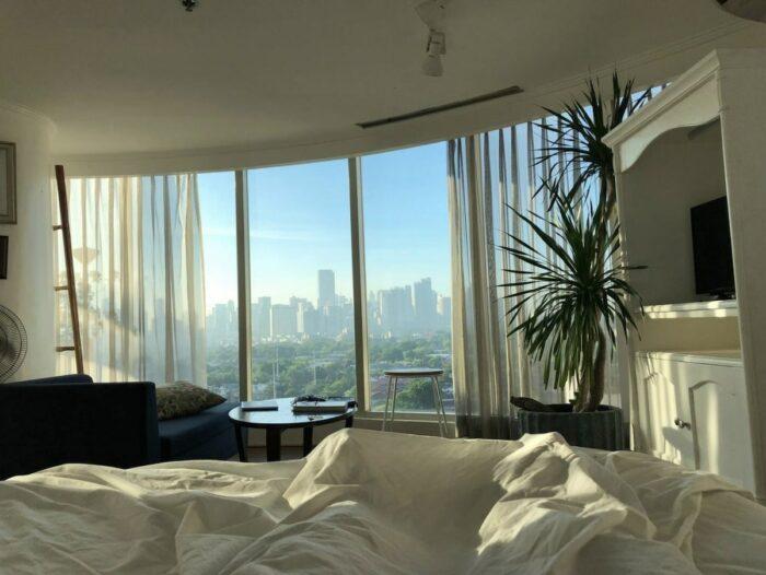 Makati Glass House Airbnb con impresionantes vistas