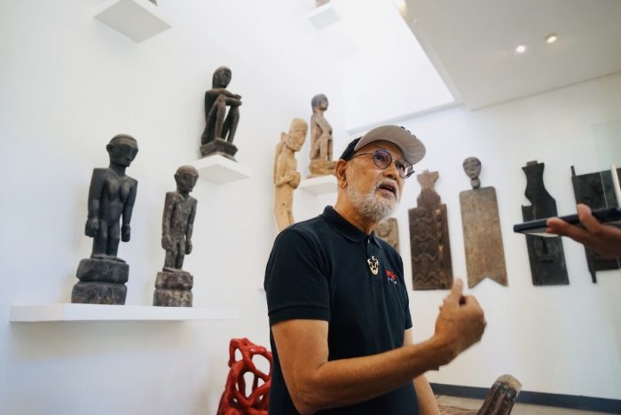 "National Artist for Visual Arts Benjamin ""BenCab"" Cabrera spearheads the Wood Carving Competition held at BenCab Museum"