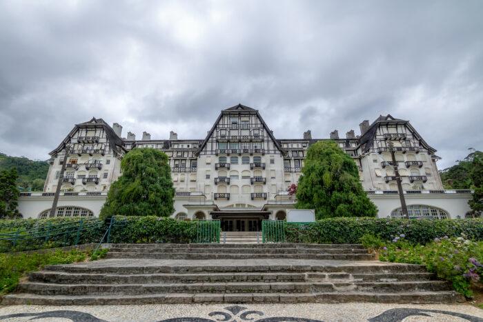 Quitandinha Palace former Casino Hotel - Petropolis, Rio de Janeiro, Brazil photo via Depositphotos