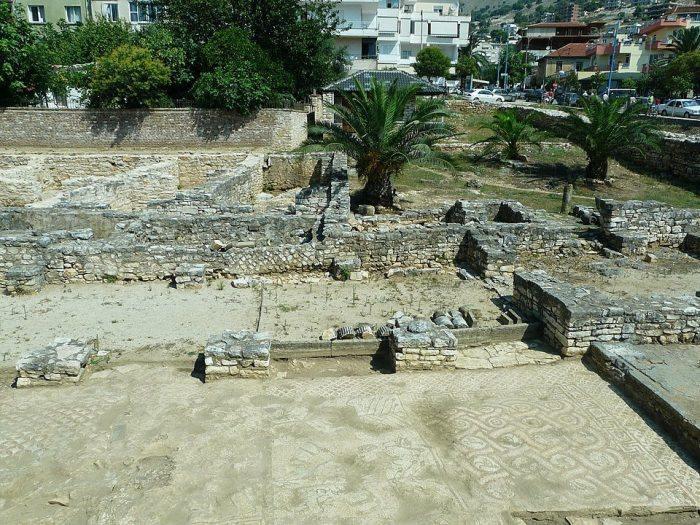Ruins of the ancient synagogue found in Saranda photo by Piotrus via Wikipedia CC