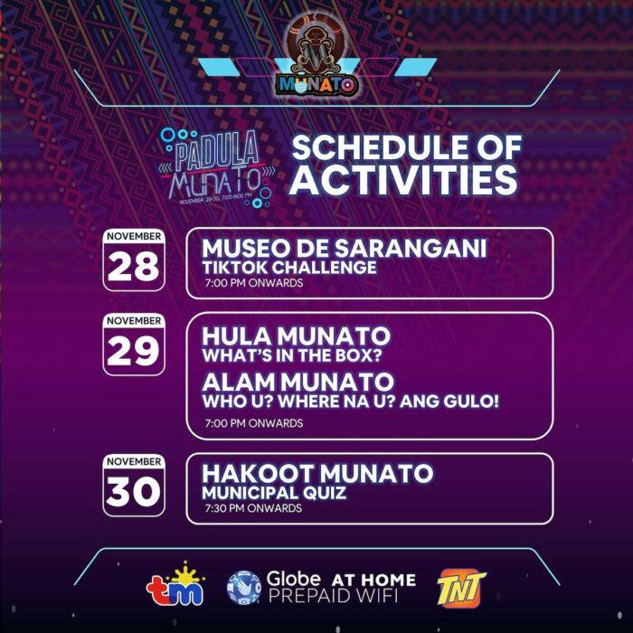 Sarangani 18th Munato Festival 2020 Schedule of Activities