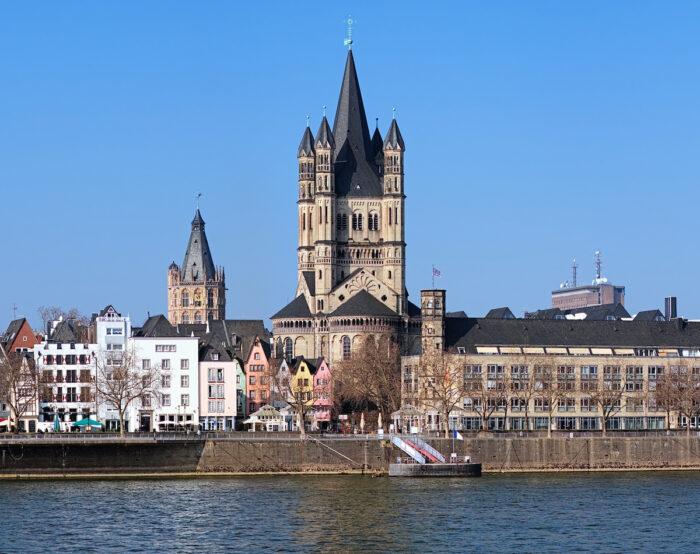 St. Martin Church in Cologne Photo via Depositphotos