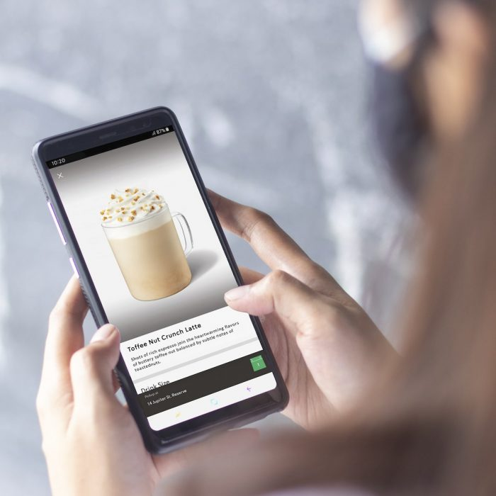 Starbucks Mobile Order and Pay Interface