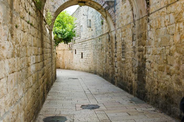 Via Dolorosa, Jerusalem, Israel photo via Depositphotos
