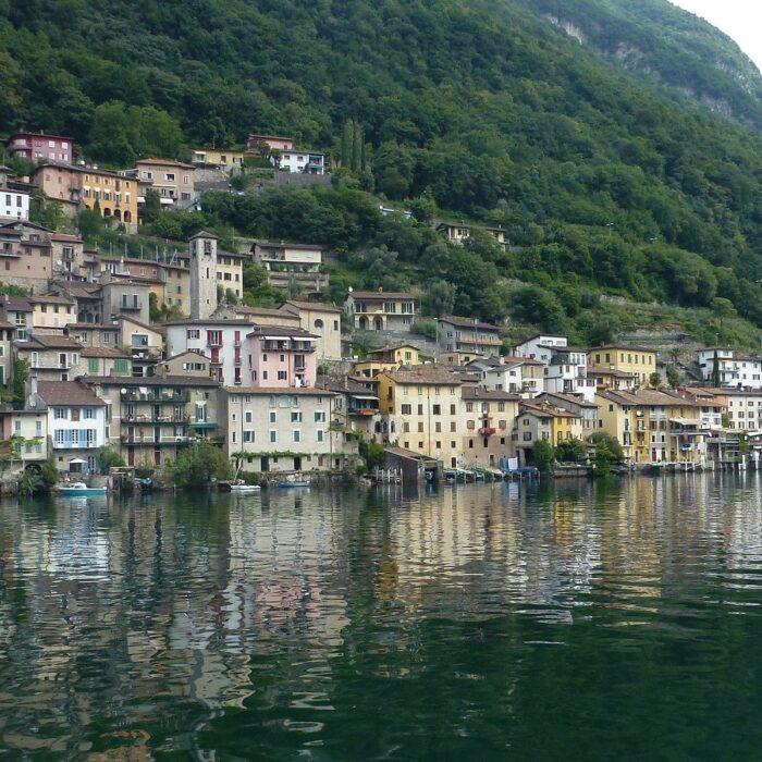 Village of Gandria in Lugano