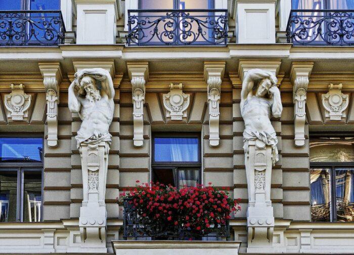 Art Nouveau Facade in Riga Latvia