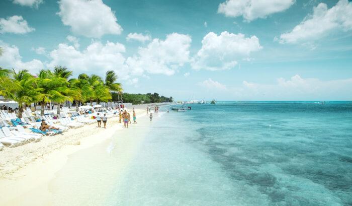 Beautiful sandy beach on Cozumel island, Mexico photo via Depositphotos