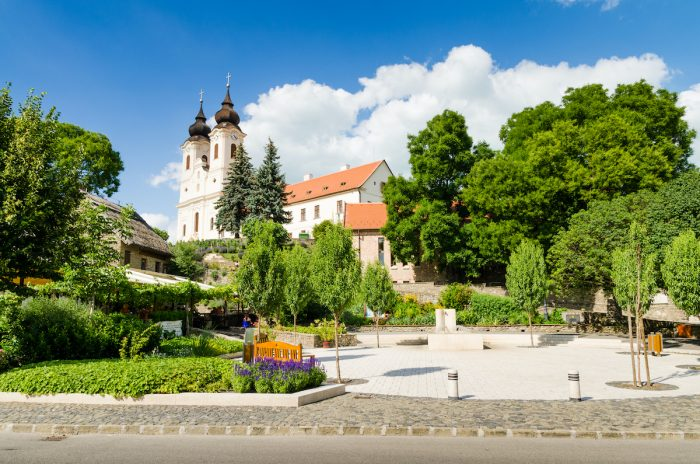 Benedictine abbey in Tihany photo via depositphotos