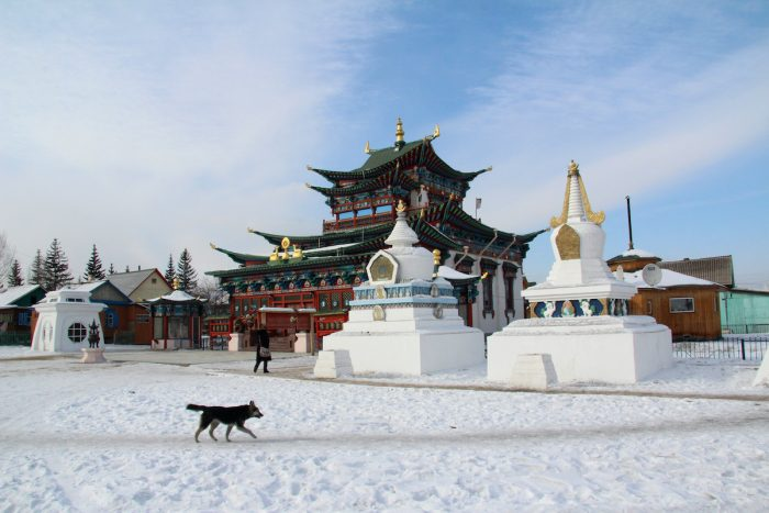 Buddhist Monastery in Mongolia photo via Depositphotos