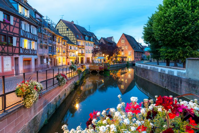 Colmar city in France photo via Depositphotos