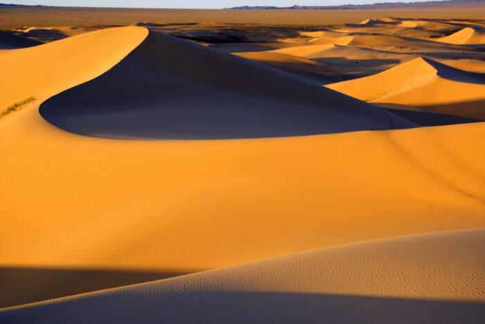 Desert landscape, Gobi desert, Mongolia photo via Depositphotos