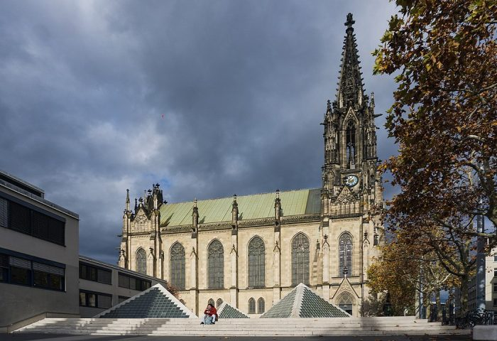 Elisabethenkirche and centre square photo via Depositphotos