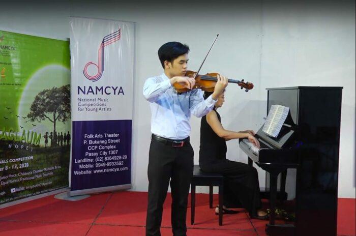 Emmanuel John Villarin, Junior Strings Category 1st prize winner