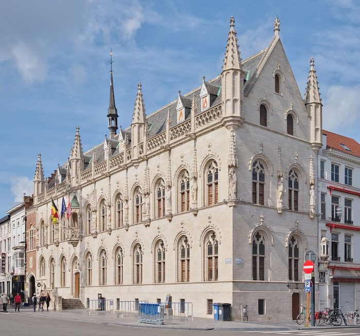 Kortrijk City Hall by Trougnouf via Wikipedia CC