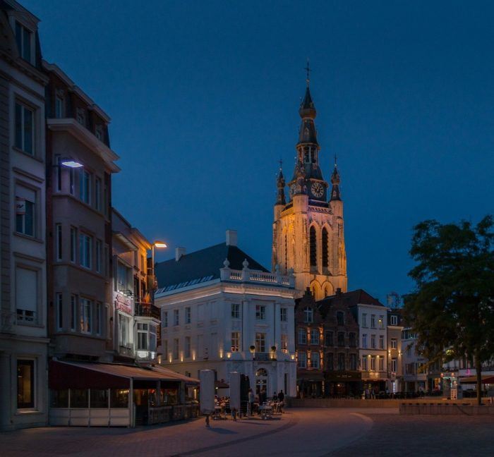Kortrijk Downtown at Night