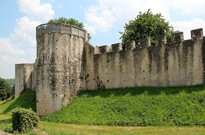 Provins City walls and towers by Jean-Pol Grandmont via Wikipedia CC
