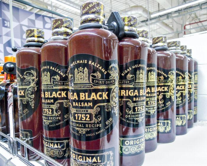 Riga Black Balsam is a traditional Latvian herbal liqueur photo via Depositphotos