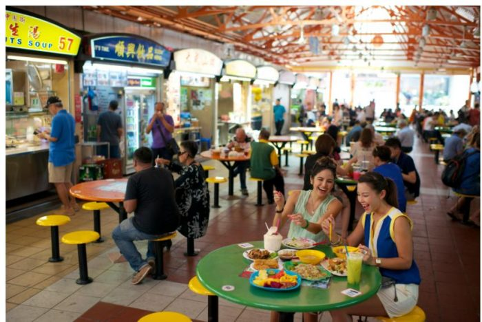 Hawker Centre's are where people from diverse backgrounds gather and share the experience of dining over breakfast, lunch and dinner.