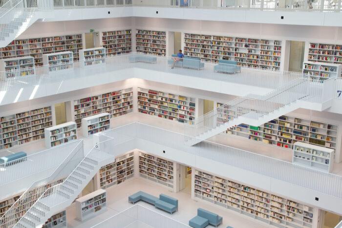 Stuttgart City Library photo via Depositphotos
