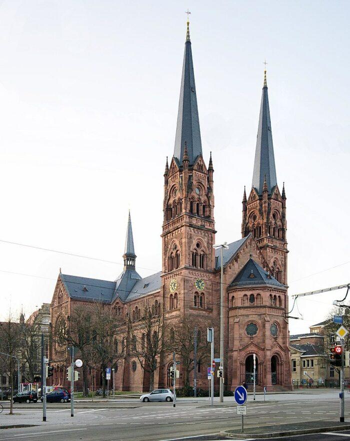 The Johanneskirche (Church of St. John) by Joergens.mi via Wikipedia CC