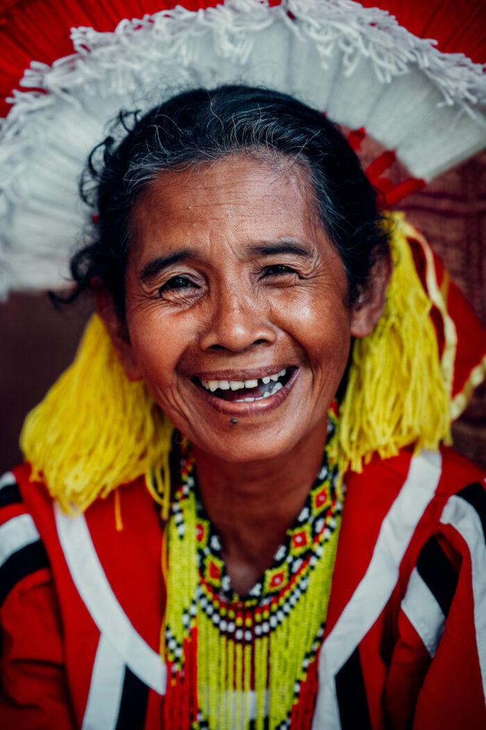 Tourism worker from Bukidnon's Tagolwanen Women Weavers Association Photo by Kyrke Stephen Jaleco