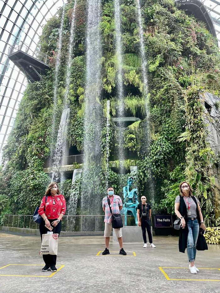 Filipino TravelRevive attendees enjoy the flora and refreshing greens at the Gardens by the Bay with peace of mind.
