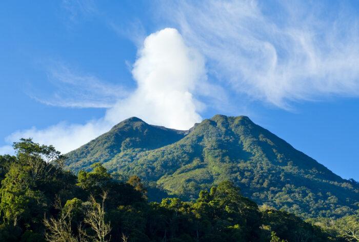 Volcano Mount Sinabung at North Sumatera photo via Depositphotos