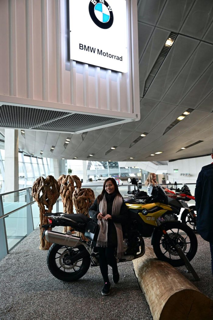 BMW Motorrad on the second floor of BMW Welt